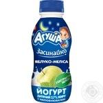 Йогурт детский Агуша Засыпайка Яблоко-Мелисса 2,7% 200г