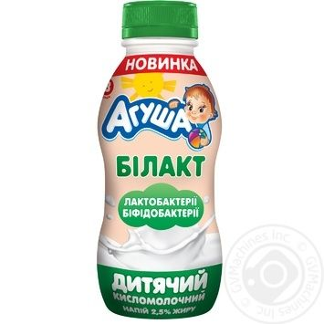 Agusha Bilact For Children From 8 Month Sour Milk Drink 2,5% 200g - buy, prices for MegaMarket - image 1