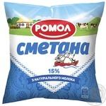 Romol Sour cream 15% 380g