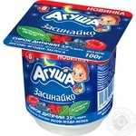 Agusha Zasynayko For Children From 8 Months With Berries And Melissa Cottage Cheese 3.9% 100g - buy, prices for Metro - image 1