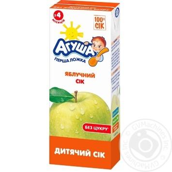 Сік Агуша яблучний без цукру для дітей з 4 місяців 200мл