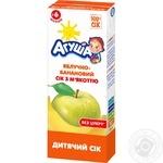 Сік Агуша яблучно-банановий з м'якоттю для дітей з 6 місяців 200мл
