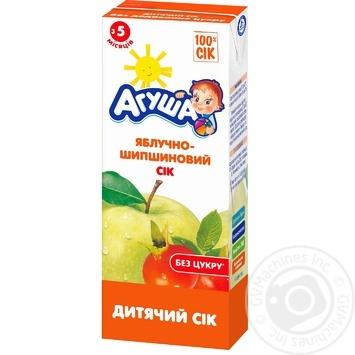 Сок Агуша яблоко-шиповник для детей с 5 месяцев 200мл - купить, цены на Фуршет - фото 1