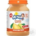 Agusha sugar free for children from 4 months pear-apple puree 190g