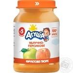 Agusha peach-apple puree 190g