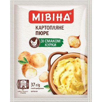 MIVINA® Chicken flavoured instant mashed potatoes 37g - buy, prices for MegaMarket - image 1
