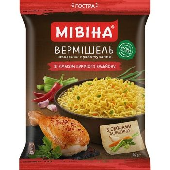 MIVINA® chicken soup flavoured instant noodles (spicy) 60g - buy, prices for MegaMarket - image 1