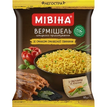 MIVINA® Pork flavoured instant noodles (non-spicy) 60g - buy, prices for MegaMarket - image 1