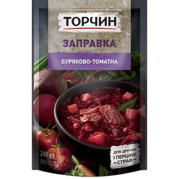 Заправка ТОРЧИН® Свекольно-томатная для первых и вторых блюд 240г - купить, цены на Таврия В - фото 1