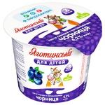Паста творожная Яготинское для детей черника с 6 месяцев 4,2% 100г