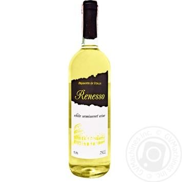 Вино Renesso Vino Bianco Semisweet белое полусладкое 10,5% 0,75л - купить, цены на СитиМаркет - фото 1