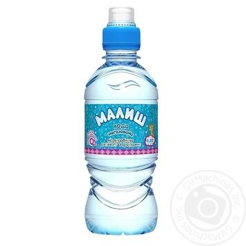 Вода Малиш питна дитяча негазована 0,33л - купити, ціни на CітіМаркет - фото 1