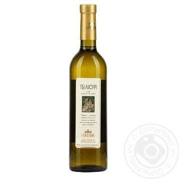 Вино Vardiani Тбилисури белое полусухое 9-14% 0,75л