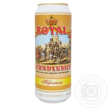 Пиво Royal Grunderbier Hefeweizen світле нефільтроване 5,3% 0,5л - купити, ціни на Ашан - фото 1