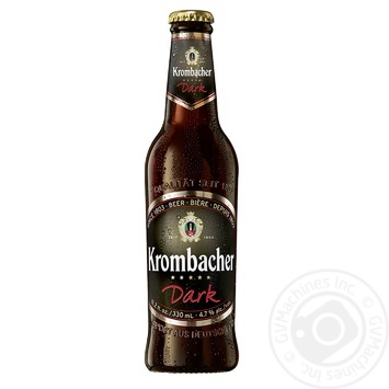Пиво Krombacher Dark 4,7% 0,33л