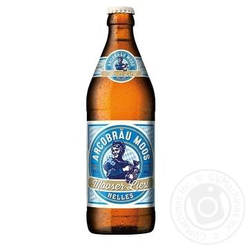 Пиво Arcobrau Mooser Liesl світле фільтроване 5,3% 0,5л