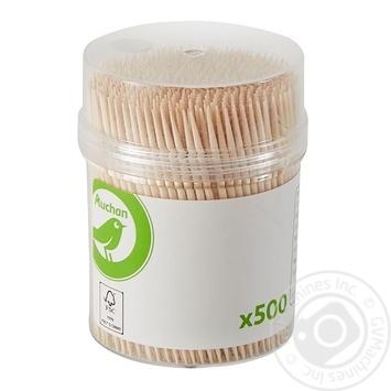 Зубочистки Ашан 500шт - купить, цены на Ашан - фото 1