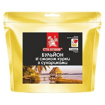 Sto pudiv Broth with the taste of chicken with croutons 17g - buy, prices for Auchan - image 1