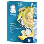 Каша молочная Gerber мультизлаковая с йогуртом, бананом и грушей 240г
