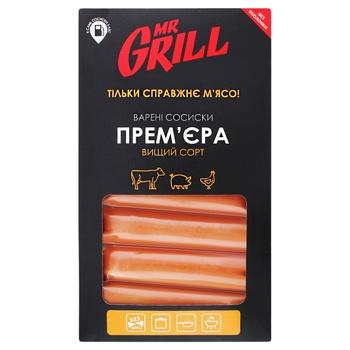 Сосиски Mr. Grill Прем'єра варені вищий гатунок 330г - купити, ціни на Ашан - фото 1