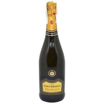 Sant'Orsola Prosecco White Extra-dry Sparkling Wine 11% 0,75l - buy, prices for CityMarket - photo 1