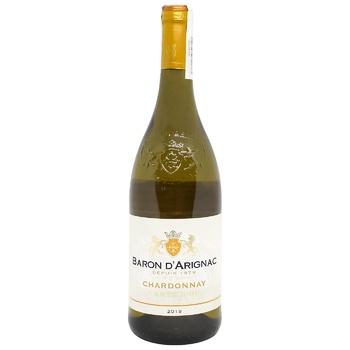 Baron d`Arignac Chardonnay white semi-dry wine 13% 0,75l - buy, prices for CityMarket - photo 1