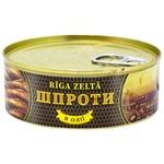 Шпроты Riga Zelta в масле 240г