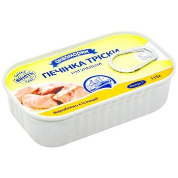 Печень трески Аквамарин натуральная 115г - купить, цены на Восторг - фото 2