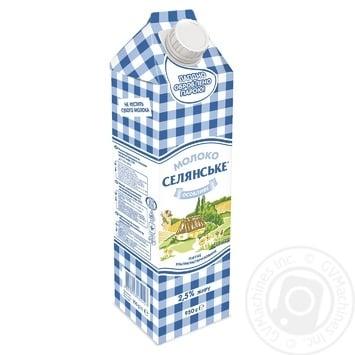 Молоко Селянське Особливе ультрапастеризоване 2.5% 950г - купити, ціни на Метро - фото 1