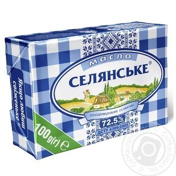 Масло Селянське солодковершкове 72,5% 100г - купити, ціни на МегаМаркет - фото 1