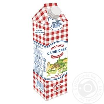 Молоко Селянське Особенное ультрапастеризованное 3.2% 950г - купить, цены на Фуршет - фото 1