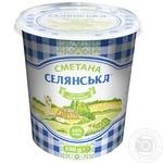 Selianska sour cream 10% 350g