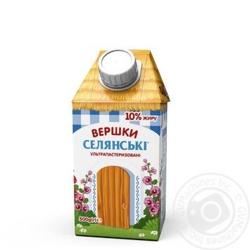 Вершки Селянські ультрапастеризовані 10% 500г - купити, ціни на Фуршет - фото 2