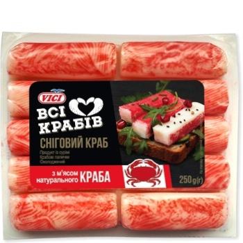 Крабовые палочки Vici с мясом натурального краба охлажденные 250г - купить, цены на Восторг - фото 1