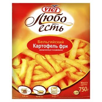 Картофель фри VICI 9/9мм 750г - купить, цены на Ашан - фото 1
