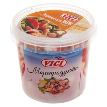 Креветки Vici Mini из сурими в масле с пряностями в чесночном масле 340г