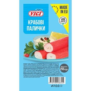 Крабові палички Vici охолоджені 250г - купити, ціни на МегаМаркет - фото 1
