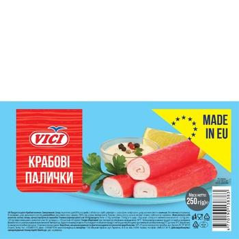 Крабові палички VICI заморожені 250г - купити, ціни на CітіМаркет - фото 1