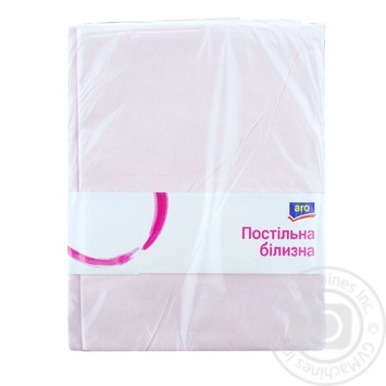 Простыня ARO бязь 200х220см цвет розовый