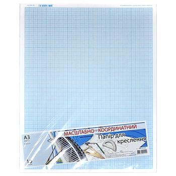 Бумага масштабно-координатная для черчения А3 10 листов
