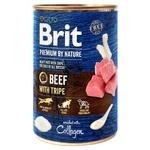 Вологий корм для собак Brit Premium By Nature Beef with Tripe яловичина 800г