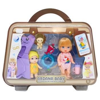 Игрушечный набор с куклой в чемодане