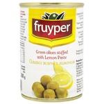 Оливки Fruyper зелені з лимоном 300мл