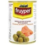Оливки Fruyper зеленые с лососем 300мл