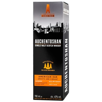Auchentoshan American Oak 8yrs whisky 40% 0,7l - buy, prices for CityMarket - photo 3