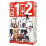 Виски Wild Turkey 40,5% 0,7л + Вермут Cinzano 15% 0,75л в коробке