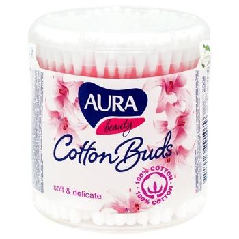 Палички Aura beauty ватні пласт. 200шт - купить, цены на СитиМаркет - фото 1
