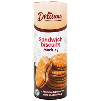 Delisana Sandwich Cookies with Cocoa Cream 300g