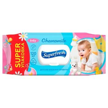 Super Fresh Children's Wet Napkins the Valve 120pcs - buy, prices for Novus - photo 2