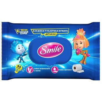 Smile Fixiki baby wet toilet paper 44pcs - buy, prices for EKO Market - photo 1